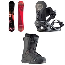 K2 First Lite Snowboard + K2 Cassette Snowboard Bindings + K2 Haven Snowboard Boots - Women's 2020