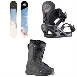 K2 Bright Lite Snowboard + K2 Cassette Snowboard Bindings + K2 Haven Snowboard Boots - Women's 2020