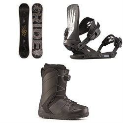 Ride Machete Snowboard 2020 + Ride Revolt Snowboard Bindings 2020 + Ride Anthem Snowboard Boots 2020