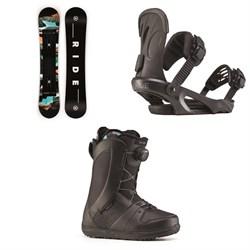Ride Heartbreaker Snowboard + Ride LXH Snowboard Bindings + Ride Sage Snowboard Boots - Women's 2020