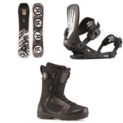 Ride Twinpig Snowboard + Ride Revolt Snowboard Bindings + Ride Triad Snowboard Boots 2020