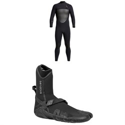 XCEL 4/3 Drylock Wetsuit + 3mm Drylock Split Toe Wetsuit Boots