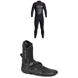 XCEL 4/3 Drylock Wetsuit + XCEL 3mm Drylock Split Toe Wetsuit Boots