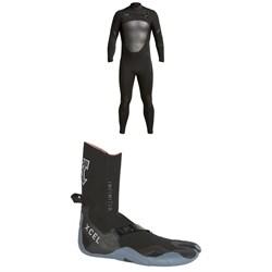 XCEL 4/3 Axis X Wetsuit + XCEL 3mm Infiniti Split Toe Wetsuit Boots