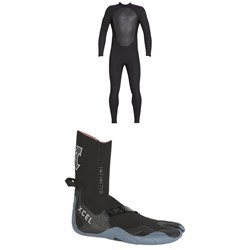 XCEL 4/3 Axis Back Zip Wetsuit + XCEL 3mm Infiniti Split Toe Wetsuit Boots