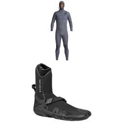 XCEL 4.5/3.5 Comp X Hooded Wetsuit + XCEL 3mm Drylock Split Toe Wetsuit Boots