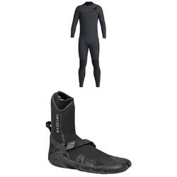 XCEL 4/3 Comp X Wetsuit + XCEL 3mm Drylock Split Toe Wetsuit Boots