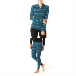Smartwool Merino 250 Baselayer Pattern 1/4 Zip Top - Women's + Smartwool Merino 250 Baselayer Pattern Bottoms - Women's