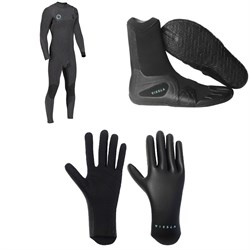 Vissla High Seas 4​/3 Drainer Chest Zip Wetsuit ​+ 7 Seas 3mm Split Toe Wetsuit Boots ​+ High Seas 1.5mm Wetsuit Gloves