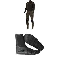 Vissla 4/3 7 Seas 50/50 Wetsuit + Vissla 3mm 7 Seas Split Toe Wetsuit Boots
