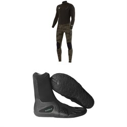 Vissla 7 Seas 4/3 50/50 Wetsuit + Vissla 7 Seas 3mm Split Toe Wetsuit Boots