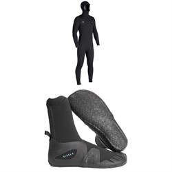Vissla 7 Seas 4​/3 Hooded Chest Zip Wetsuit ​+ Vissla 7 Seas 5mm Round Toe Wetsuit Boots