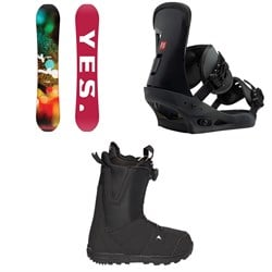 Yes. Libre Snowboard  ​+ Burton Freestyle Snowboard Bindings  ​+ Moto Boa Snowboard Boots 2018