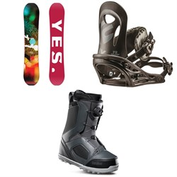 Yes. Libre Snowboard ​+ Flux PR Snowboard Bindings ​+ thirtytwo STW Boa Snowboard Boots