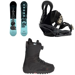 Rome Royal Snowboard  ​+ Burton Citizen Snowboard Bindings  ​+ Mint Boa Snowboard Boots - Women's 2018
