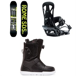 Rome Mechanic Snowboard  ​+ Rome United Snowboard Bindings  ​+ DC Scout Boa Snowboard Boots