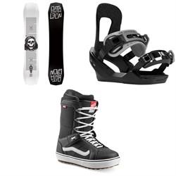 Bataleon Disaster Snowboard 2020 + Switchback Destroyer Snowboard Bindings 2020 + Vans Hi Standard OG Snowboard Boots 2020