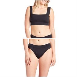 Billabong Sol Searcher Square Neck Bikini Top & Sol Searcher Maui Rider Bikini Bottoms - Women's