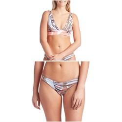 Maaji Areia Allure Reversible Bikini Top & Champagne Sublime Signature Bikini Bottoms - Women's