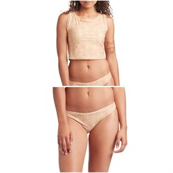 Mollusk Cropped Surf Tank & Atoll Bikini Bottoms - Women's