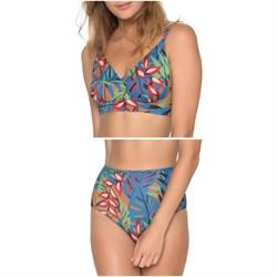 Seea Soleil Bikini Top + Soleil High-Waist Bikini Bottoms - Women's
