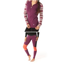 Smartwool Merino 250 Baselayer 1​/2 Zip Hoodie ​+ Merino 250 Asym Baselayer Bottoms - Women's