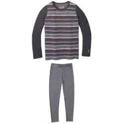 Smartwool Merino 250 Baselayer Pattern Crew Top ​+ Merino 250 Baselayer Bottoms - Kids'