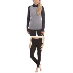 evo Ridgetop Merino Wool Midweight High Neck Top - Women's ​+ evo Ridgetop Merino Wool Midweight Pants - Women's