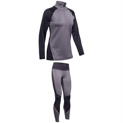 Under Armour Coldgear Armour 1​/2 Zip Colorblock ​+ Coldgear Armour Graphic Leggings - Women's