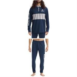 Burton Midweight Rugby Shirt + Midweight Stash Pants