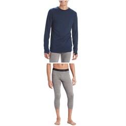 evo Ridgetop Merino Wool Midweight Crew Top + 3/4 Pants