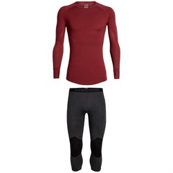 Icebreaker 260 Zone Long Sleeve Crew Top ​+ 260 Zone Legless Bottoms