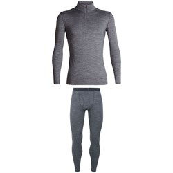 Icebreaker 200 Oasis Long Sleeve Half Zip Top ​+ 200 Oasis with Fly Leggings