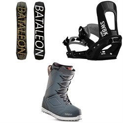 Bataleon Global Warmer Snowboard ​+ Switchback Smith Snowboard Bindings ​+ thirtytwo Zephyr Snowboard Boots