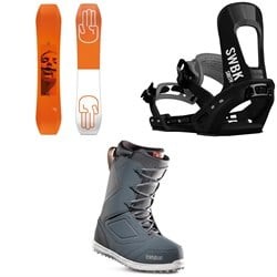 Bataleon Wallie Snowboard ​+ Switchback Smith Snowboard Bindings ​+ thirtytwo Zephyr Snowboard Boots