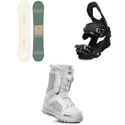 Arbor Poparazzi Camber Snowboard ​+ Arbor Sequoia Snowboard Bindings ​+ thirtytwo STW Boa Snowboard Boots - Women's 2020