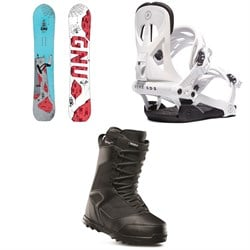 GNU Money C2E Snowboard ​+ Rome Arsenal Snowboard Bindings ​+ thirtytwo Prion Snowboard Boots