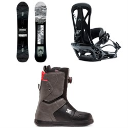Rome Warden Snowboard ​+ Rome United Snowboard Bindings ​+ DC Scout Boa Snowboard Boots 2020