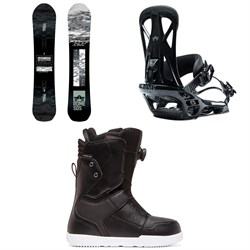 Rome Warden Snowboard ​+ Rome United Snowboard Bindings ​+ DC Scout Boa Snowboard Boots