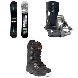 Rome Warden Snowboard + Rome Crux Snowboard Bindings + DC Mutiny Snowboard Boots 2020
