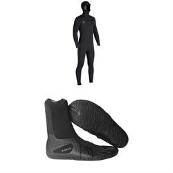 Vissla 7 Seas 4​/3 Hooded Chest Zip Wetsuit ​+ Vissla 7 Seas 3mm Split Toe Wetsuit Boots