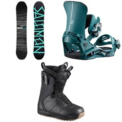 Salomon Craft X Snowboard ​+ District Snowboard Bindings ​+ Launch Snowboard Boots