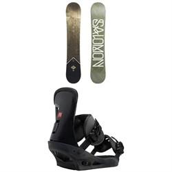 Salomon Sight X Snowboard + Burton Freestyle Snowboard Bindings