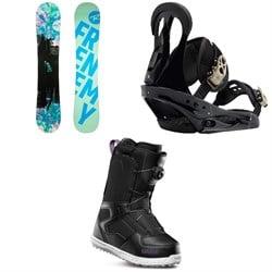 Rossignol Frenemy Snowboard + Burton Citizen Snowboard Bindings + thirtytwo Shifty Boa Snowboard Boots - Women's