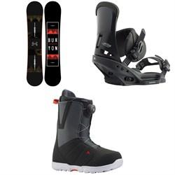 Burton Ripcord Snowboard + Custom EST Snowboard Bindings + Moto Boa Snowboard Boots 2020