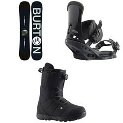 Burton Instigator Snowboard + Custom EST Snowboard Bindings + Moto Boa Snowboard Boots 2020