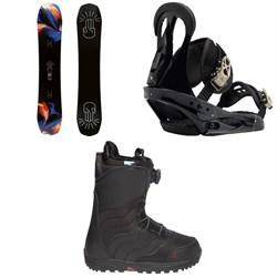 Bataleon Distortia Snowboard + Burton Citizen Snowboard Bindings + Burton Mint Boa Snowboard Boots - Women's 2018