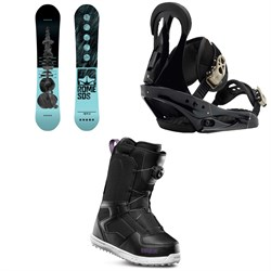 Rome Royal Snowboard ​+ Burton Citizen Snowboard Bindings ​+ thirtytwo Shifty Boa Snowboard Boots - Women's