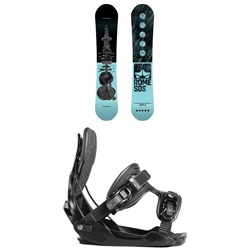 Rome Royal Snowboard - Women's ​+ Flow Haylo Snowboard Bindings - Women's