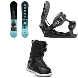 Rome Royal Snowboard ​+ Flow Haylo Snowboard Bindings ​+ thirtytwo Shifty Boa Snowboard Boots - Women's